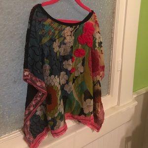 Tru Luv Boho Shirt - Size 10 girls tweens